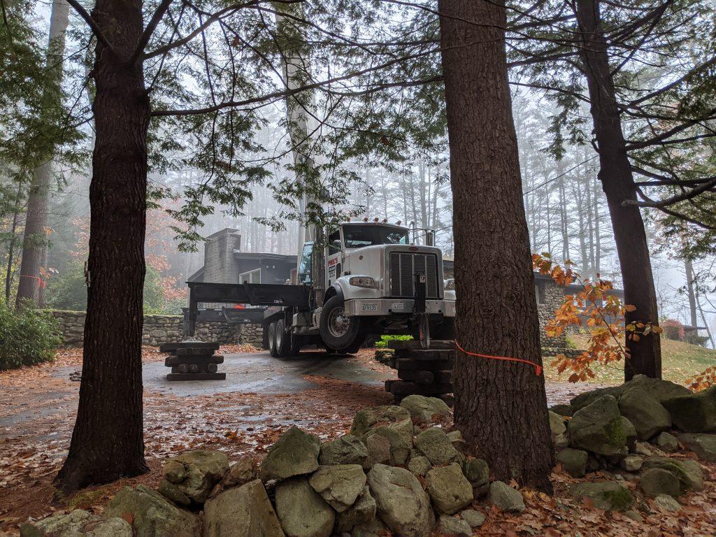 Tree work truck
